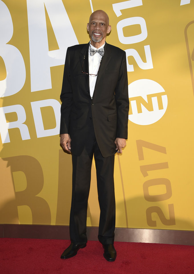 Photo - Kareem Abdul-Jabbar arrives at the NBA Awards at Basketball City at Pier 36 on Monday, June 26, 2017, in New York. (Photo by Evan Agostini/Invision/AP)
