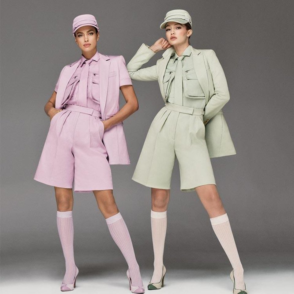 Photo - Max Mara shorts suits for spring.