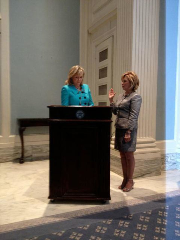 Gov. Mary Fallin, Kathy Bookman.  PHOTO PROVIDED