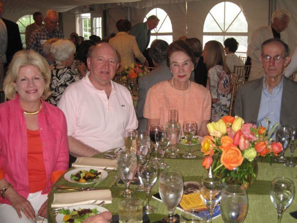 Debby and Paul Dudman, Jerriann and Goeffrey Altshuler were at the Symphony Show House. (Photo by Helen Ford Wallace).