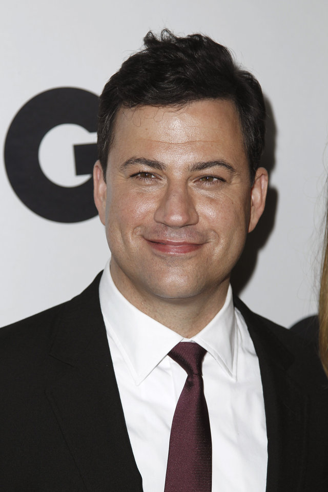 FILE - In this Nov. 17, 2011 file photo, Jimmy Kimmel arrives at the 16th annual GQ