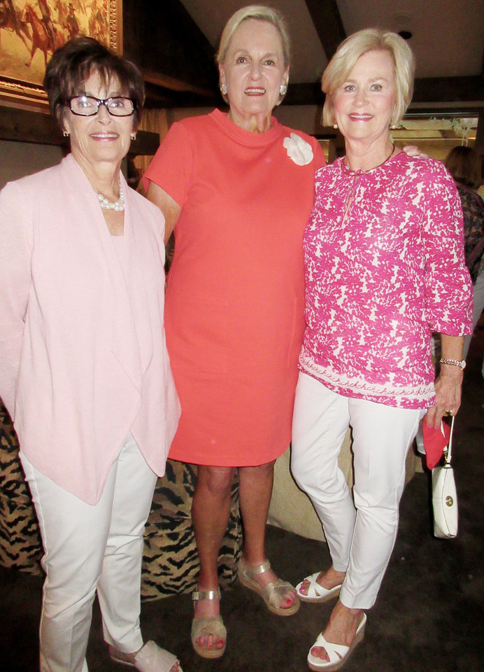 Photo - Linda James, Patty Ramsey, Martha Bradshaw. PHOTO BY HELEN FORD WALLACE, THE OKLAHOMAN