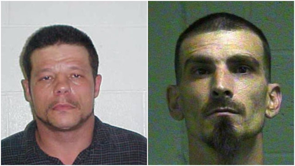 Photo - LEFT: Michael Dale Vance Jr. RIGHT: Danny L. Roach. Roach has admitted to helping Vance in the hours after two Wellston police officers were shot and a Luther couple killed, according to authorities.
