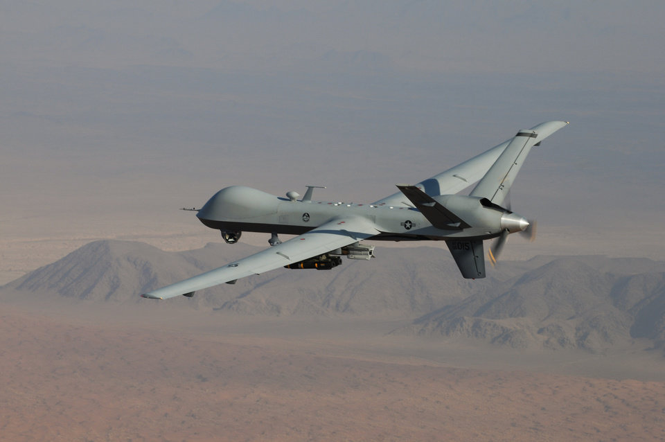 Photo -  An MQ-9 Reaper drone is shown. PHOTO PROVIDED BY U.S. AIR FORCE