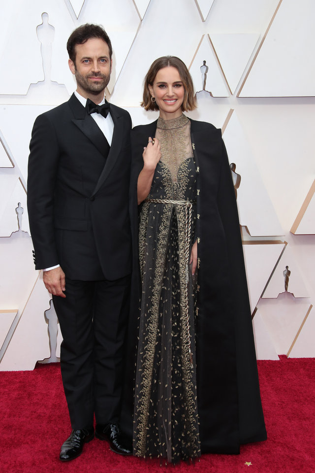 Photo - Feb 9, 2020; Los Angeles, CA, USA;  Benjamin Millepied, left and Natalie Portman arrive at the 92nd Academy Awards at Dolby Theatre. Mandatory Credit: Dan MacMedan-USA TODAY