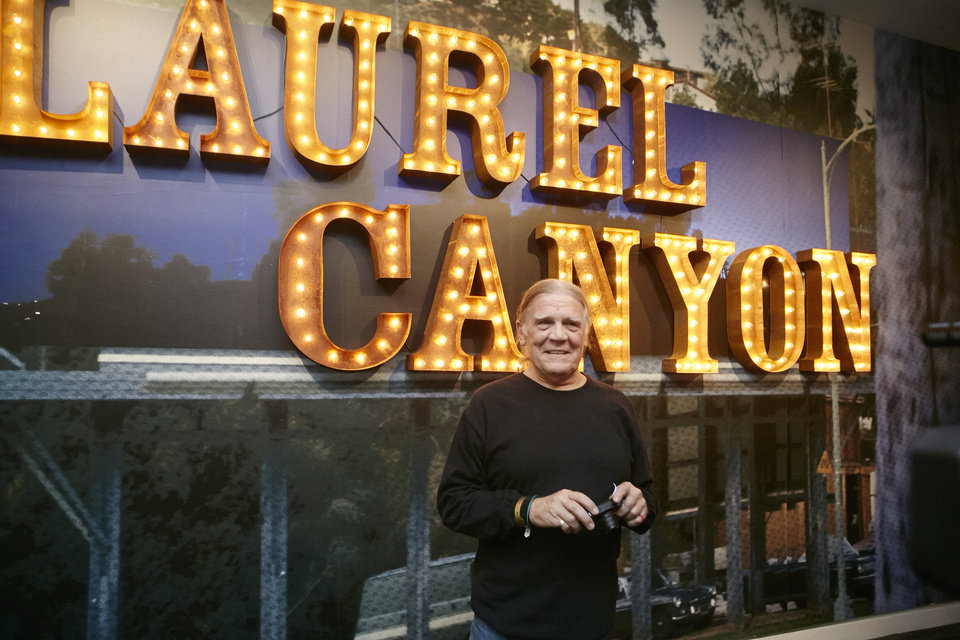 Photo - In this Friday, May 9, 2014, photo, Folk musician and photographer Henry Diltz, whose iconic photographs of Laurel Canyon are featured at the Grammy Museum show