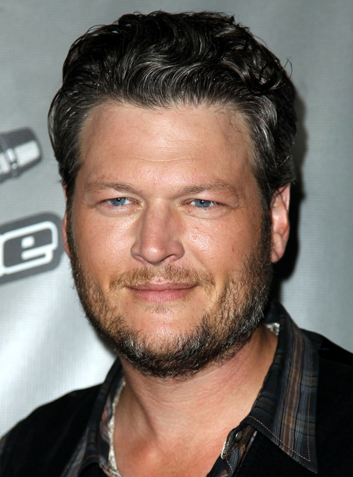 Photo - Tishomingo resident Blake Shelton(Photo by Matt Sayles/Invision/AP)  Matt Sayles