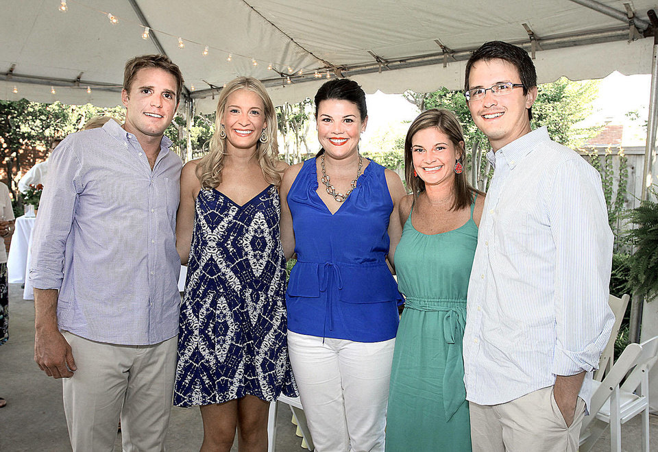 Photo - Jeff McQueen, Anne Heatly, Katherine Regens, Amy and Jeremy Almon.  Photos by David Faytinger, for the Oklahoman