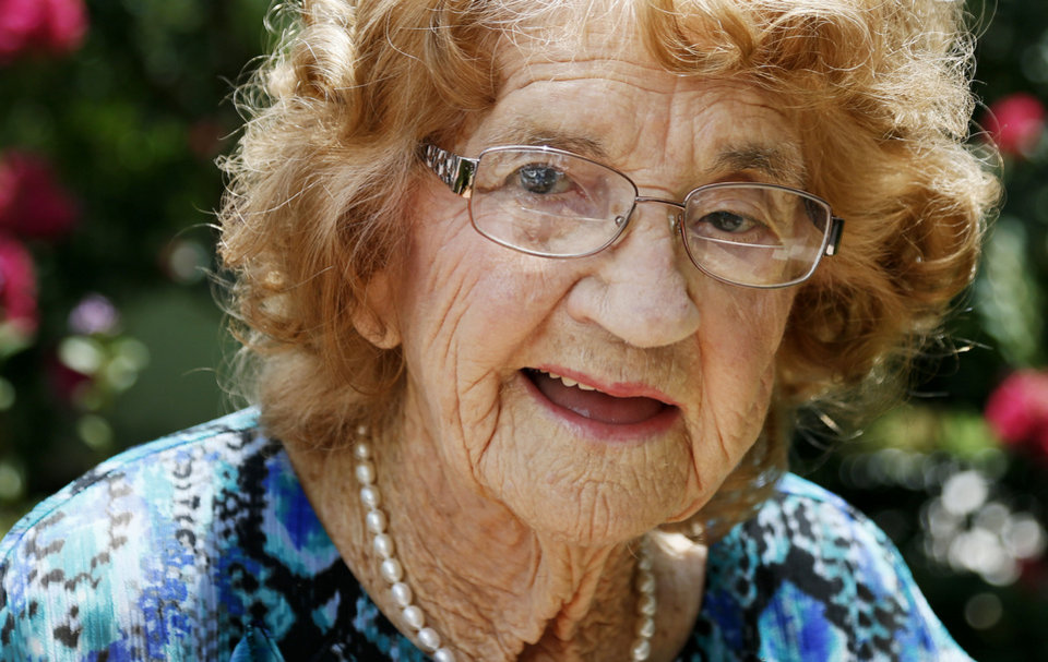 Photo - Exie Coldiron, 100, is a mother of seven who married a man who flirted with her during a church meeting. Photo by Nate Billings, The Oklahoman  NATE BILLINGS - NATE BILLINGS