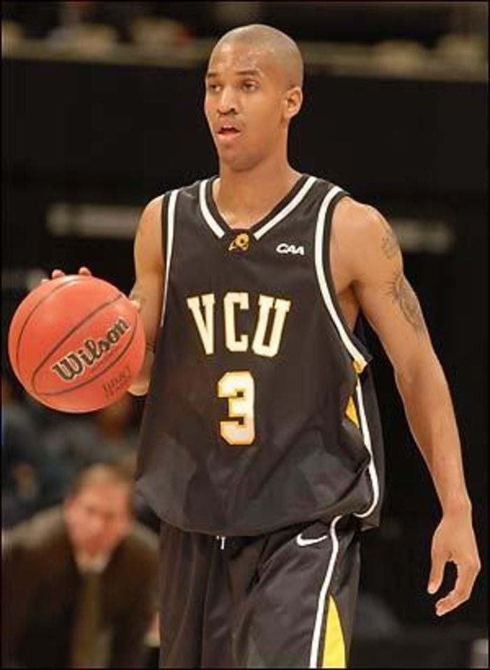 Thunder point guard Eric Maynor at Virginia Commonwealth. (AP photo)