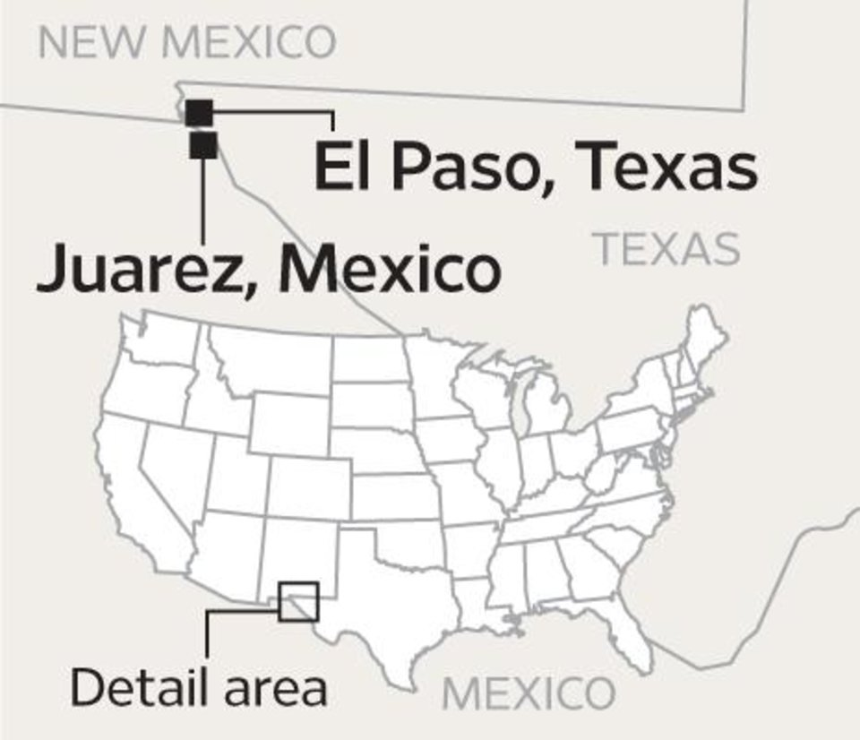 Photo - MAP / GRAPHIC / EL PASO, TEXAS / JUAREZ, MEXICO