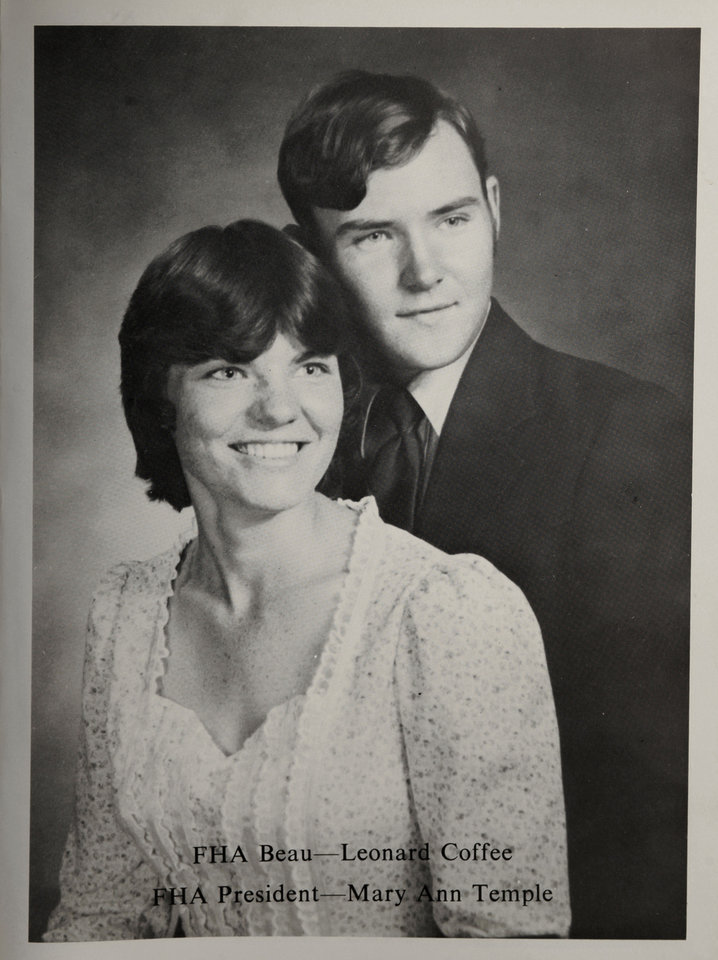 Photo - Mary Ann Temple-Lee and Leonard Coffee are shown in a photo from their high school yearbook.