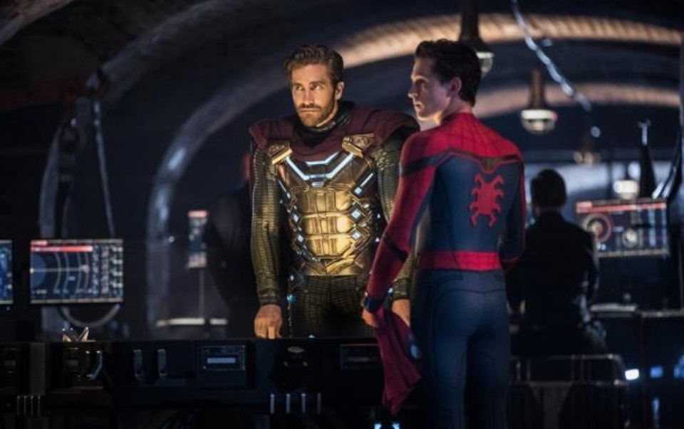 Photo - Jake Gyllenhaal, left, and Tom Holland star in