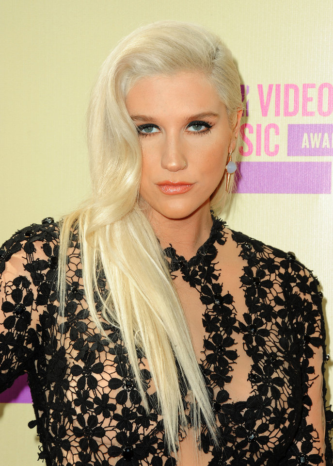 "FILE - In this Sept. 6, 2012 file photo, Ke$ha attends the MTV Video Music Awards in Los Angeles. Ke$ha\'s ""Die Young"" is at the top of Spotify\'s Most Streamed Tracks for the United States and United Kingdom from Monday, Nov. 5, 2012 to Sunday, Nov. 11, 2012. (Photo by Jordan Strauss/Invision/AP, File)"