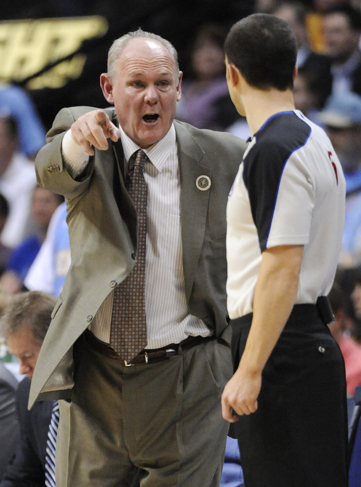 Coach George Karl: The seventh-winningest coach in NBA annals, Karl has amassed 986 wins in his 22 seasons in the NBA. His 2009-10 season was cut short because of throat and neck cancer. (AP Photo/Jack Dempsey)