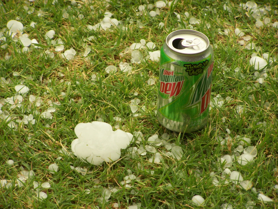 Hail from storm on 4/24/06<br/><b>Community Photo By:</b> Cheri, El Reno<br/><b>Submitted By:</b> Cheri, El Reno