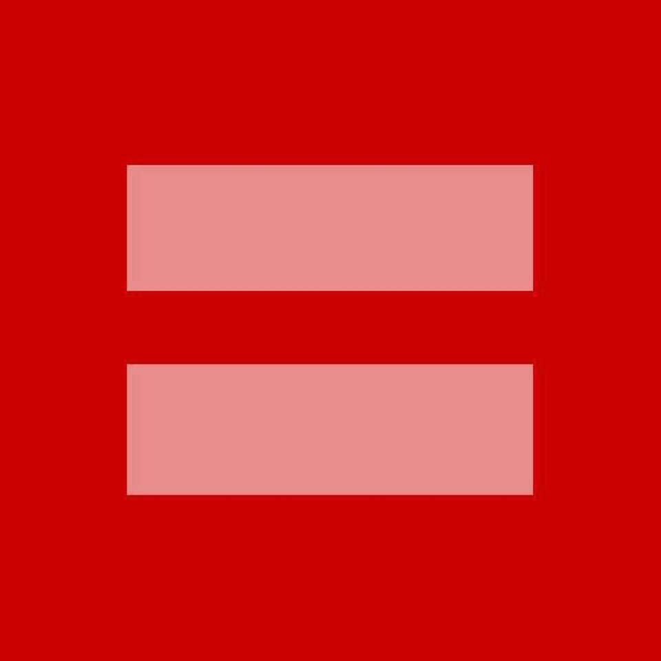 The Facebook profile photo used by those who wish to show support for marriage equality was introduced on Monday, March 25, 2013 by the Human Rights Campaign. The photo is a variation of the group�s own logo. (Photo from Facebook.com)