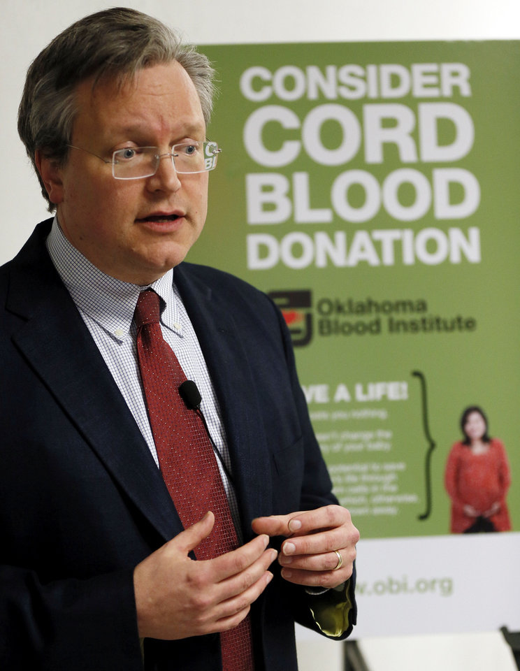 Dr. John Armitage, CEO of the Oklahoma Blood Institute.  Photo by Nate Billings, The Oklahoman <strong>NATE BILLINGS - NATE BILLINGS</strong>