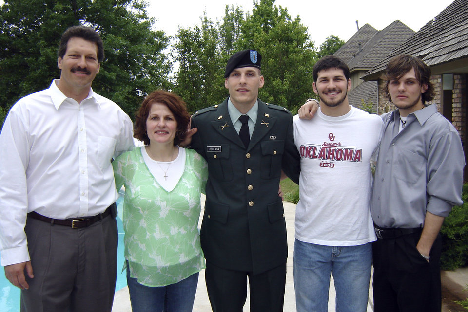 Scott, Vicki, Michael, Brett and Curtis Behenna in a family photo in 2006.Photo provided by the Behenna Family