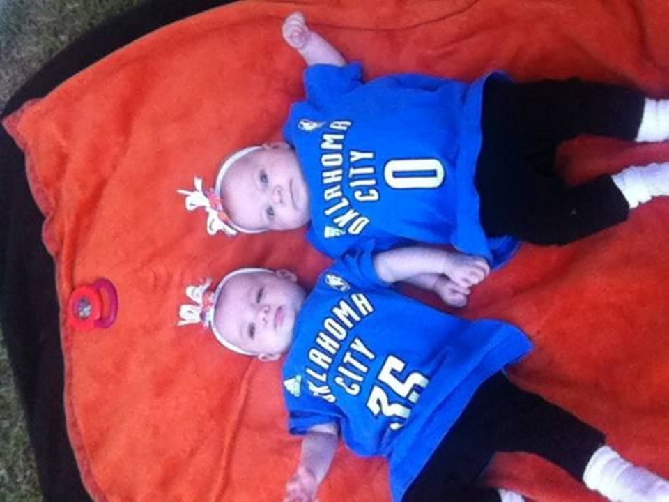 Leap day twin girls thunder up