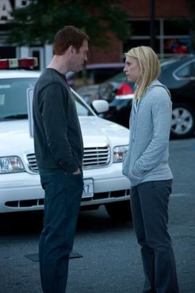 "Photo -  Damian Lewis and Claire Danes of ""Homeland"" - Showtime Photo"