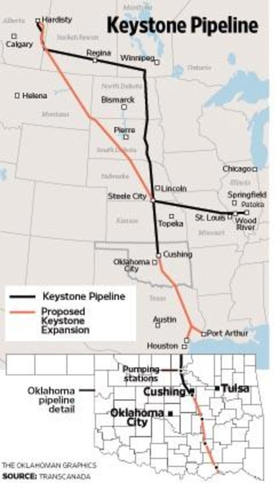 Keystone Pipeline MAP / GRAPHIC