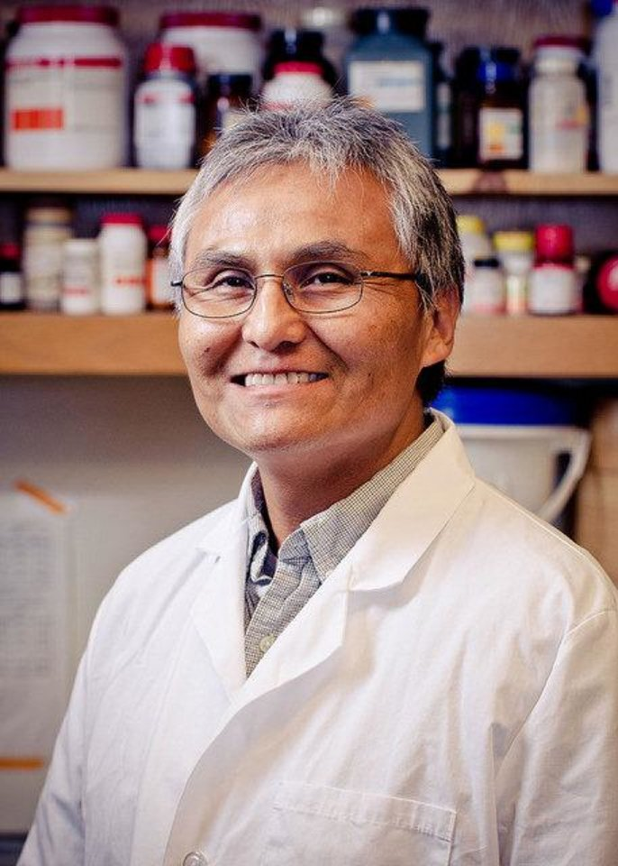 Gilbert John, a microbiology and molecular genetics professor at Oklahoma State University, is overseeing a program to work with American Indian doctoral students in science-related fields. PHOTO PROVIDED <strong></strong>