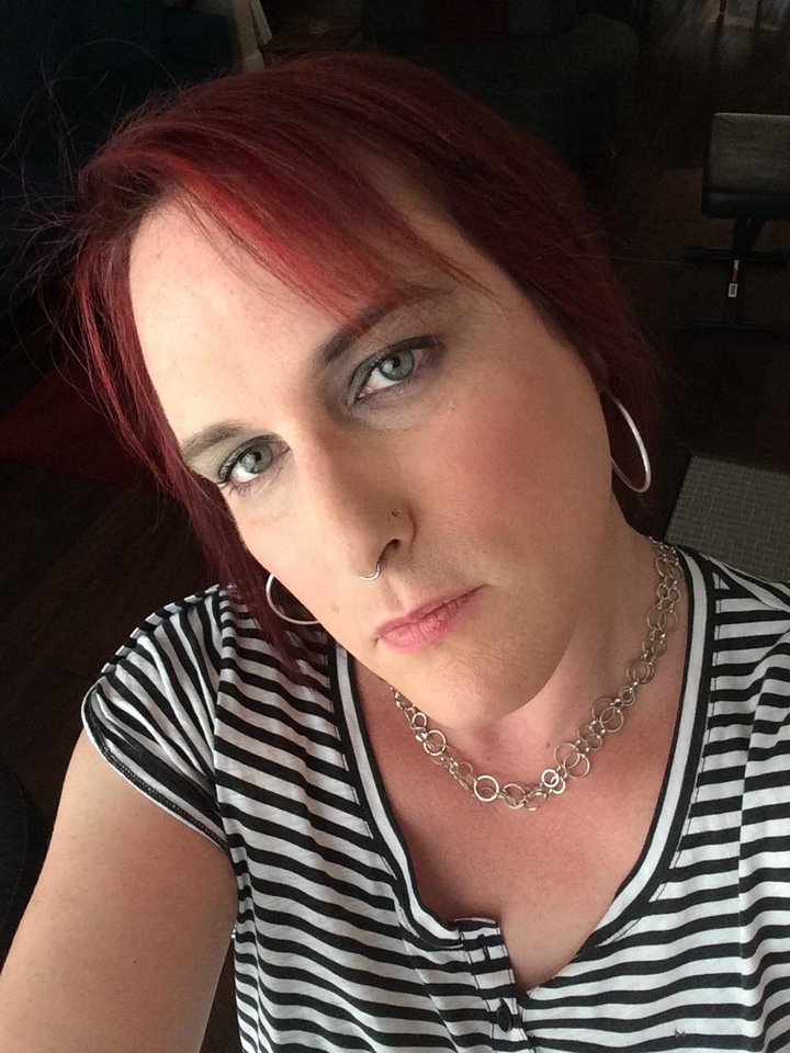 Photo - This July 2014 selfie image shows a transgender woman Kylie Jack in Austin, Texas, who was denied personal service at a lingerie shop known for one-on-one fittings. The 39-year-old computer interaction designer left empty-handed and angry after being asked if she was an anatomical female. She took to social media to protest. (AP Photo/Kylie Jack)