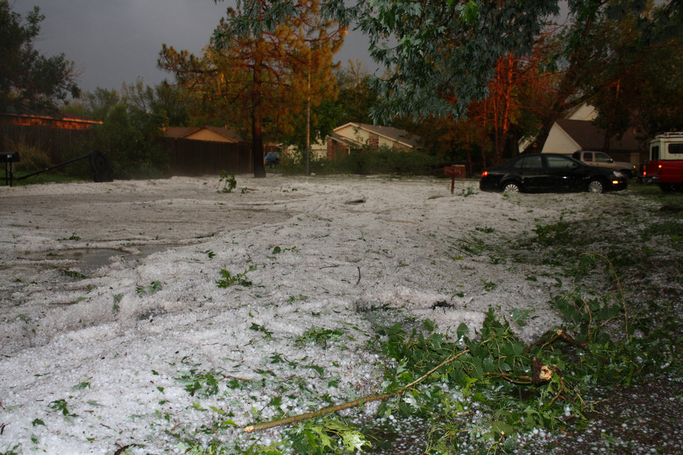 Photo - Norman,OK hail storm results