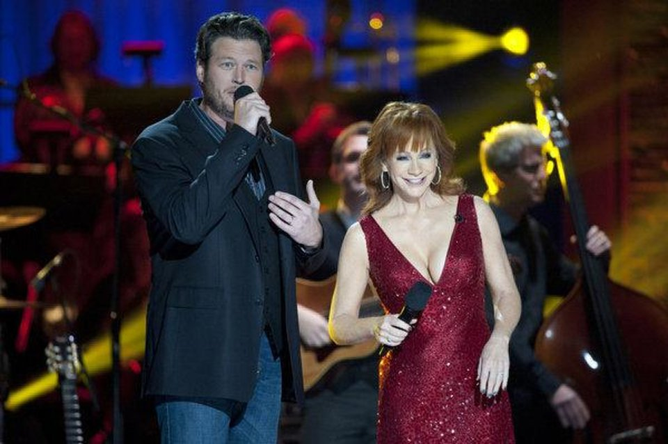 "Oklahoma native and country music superstar Reba McEntire appears  on ""Blake Shelton's Not-So-Family Christmas."" Photo by Lewis Jacobs/NBC"