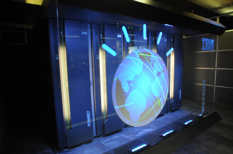 Photo - FILE- This Jan. 13, 2011 file photo provided by IBM shows the IBM computer system known as Watson. IBM announced Thursday, Jan. 9, 2014  that it's investing over $1 billion to give its Watson cloud computing system its own business division and a new home in the heart of New York City. (AP Photo/IBM, File)