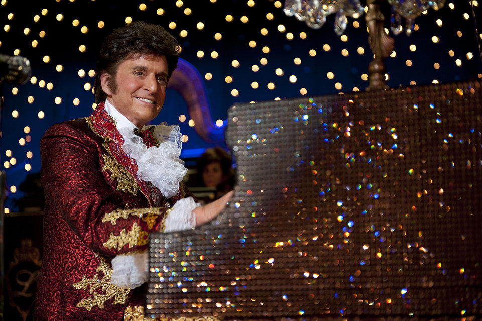 Photo - This film image released by HBO shows Michael Douglas as Liberace in a scene from
