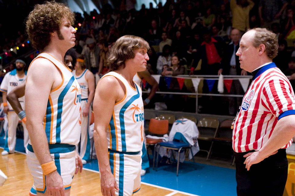 Photo - MOVIE / FILM: From left, Will Ferrell as Jackie Moon, Woody Harrelson as Monix and Matt Walsh as Father Pat the Ref star in