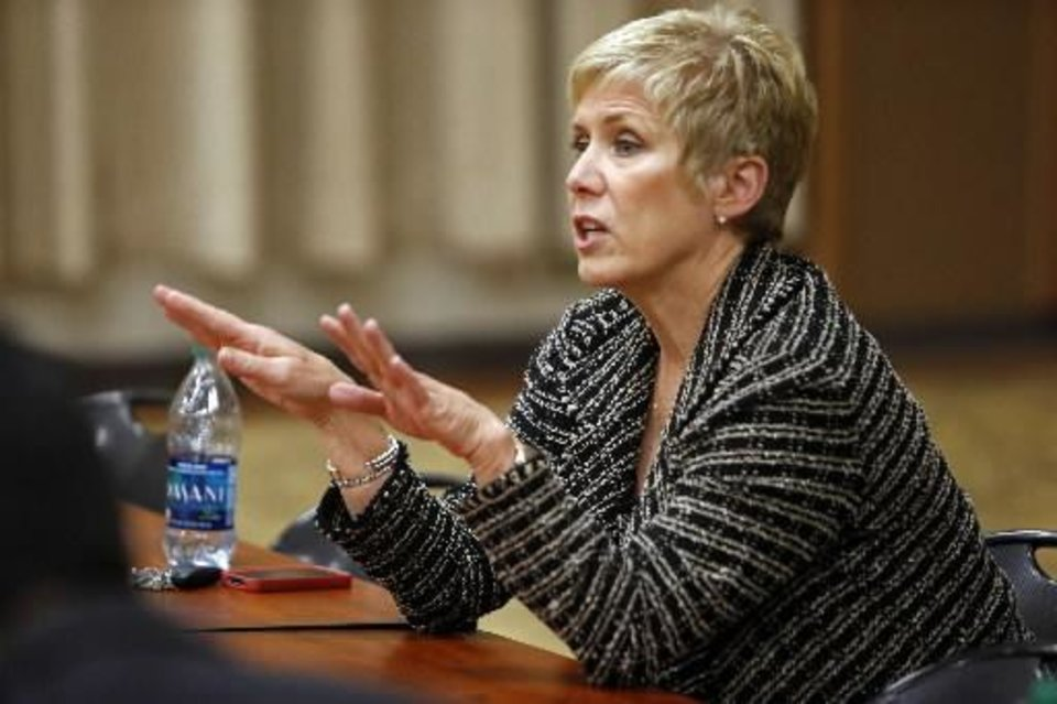 File photo - Oklahoma School Superintendent Janet Barresi - Photo by Steve Sisney