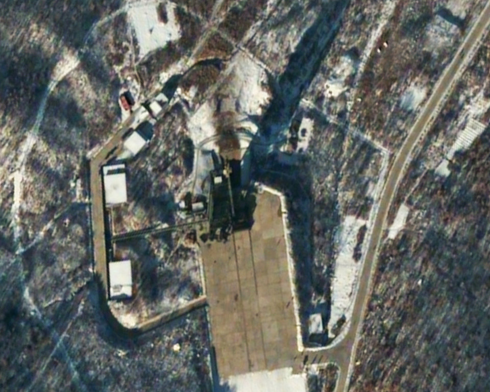 Photo - FILE - This satellite image provided by DigitalGlobe shows the Sohae Satellite Launching Station in Tongchang-ri, North Korea, 54 minutes after a long-range Unha-3 rocket was successfully launched, Wednesday, Dec. 12, 2012. North Korea defied international warnings as the regime of Kim Jong Un took a giant step forward in its quest to develop the technology to deliver a nuclear warhead. (AP Photo/DigitalGlobe) ORG XMIT: NYJC601