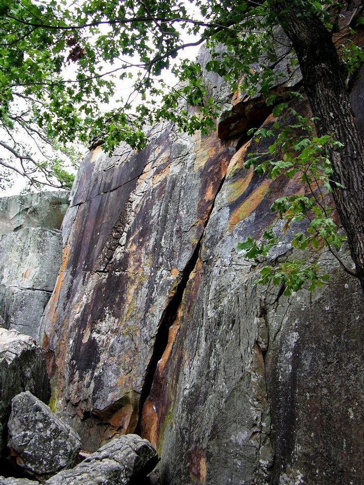 Photo - Visitors to Robbers Cave State Park can rappel down its rock faces. PHOTO PROVIDED.