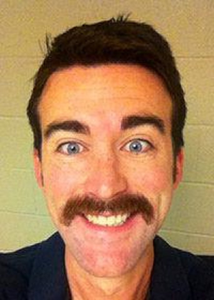 Photo - Physical therapist Micah Moeller was the second-place winner in Inegris Health's November mustache-growing contest. PHOTO PROVIDED