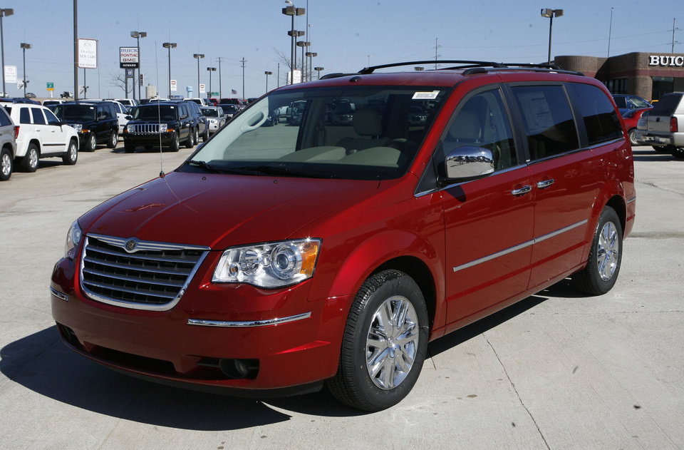 A Chrysler Town and Country at Bob Howard Chrysler in Oklahoma City, OK, Tuesday, Feb. 26, 2008. BY PAUL HELLSTERN, THE OKLAHOMAN