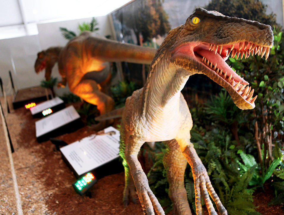 Left: A Deinonychus is one of the dinosaurs on display.