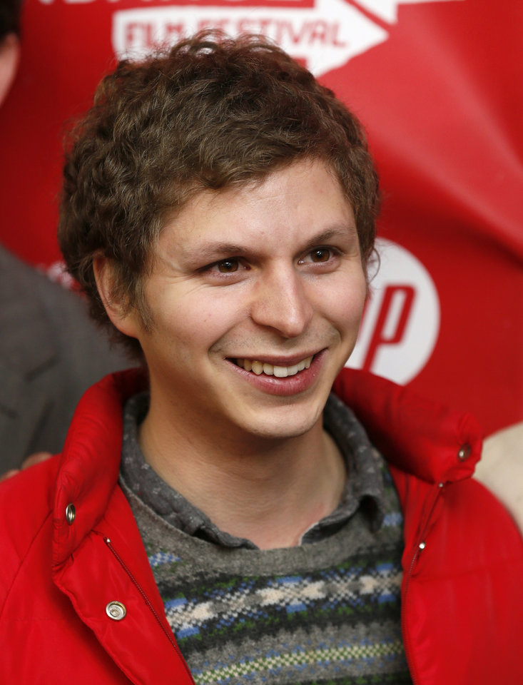 Photo - Cast member Michael Cera poses at the premiere of