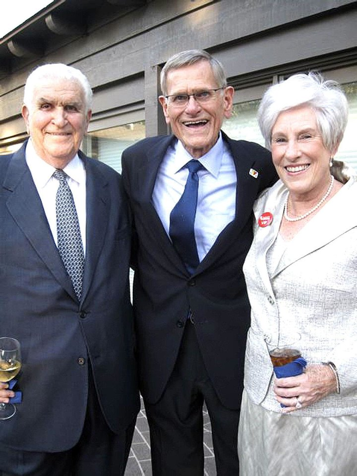 Lee Allan Smith, Tom Love, Nancy Ellis.  PHOTO BY HELEN FORD WALLACE, THE OKLAHOMAN