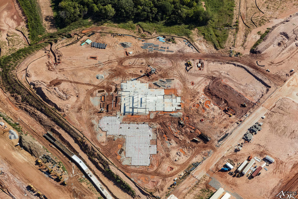 Photo -  An aerial view of the construction site of Edmond's new hotel and conference center. [PHOTO PROVIDED]