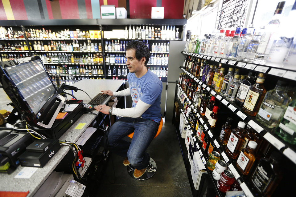 Vice liquor store owner Art Rutledge is shown Tuesday in Oklahoma City. Photo By Steve Gooch, The Oklahoman
