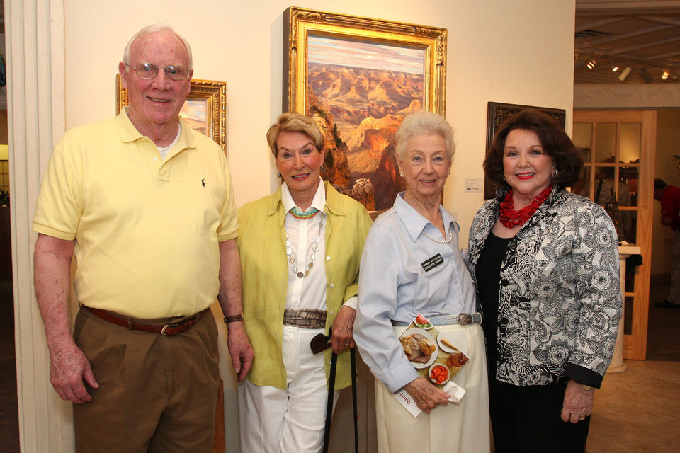Tom and Noma Sullivan, Charlotte Dobson, Betty Crow. Photo by David Faytinger <strong></strong>