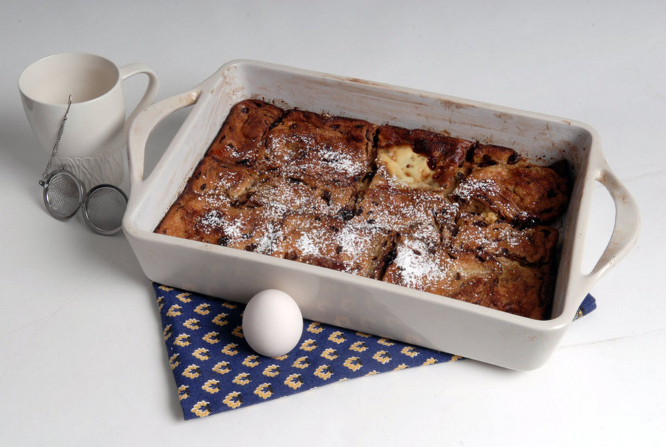 Photo - Baked French toast is an easy make-ahead recipe. Let the bread soak overnight and then bake for a fresh, hot breakfast. (Joan Barnett Lee/Modesto Bee/MCT)