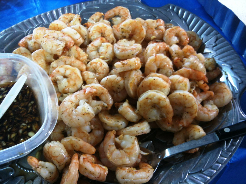 Grilled shrimp. Photo by Dave Cathey, The Oklahoman <strong></strong>