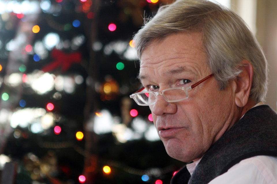 Photo - In this photo taken Thursday Dec. 6, 2012 of John Pfeifle Bradford, N.H. is seen during his lunch break at Robie's Country Store and Deli in Hookset, N.H.  Pfeifle,  says that both Obama and House Republicans seem prepared to push the nation over the fiscal cliff.(AP Photo/Jim Cole)