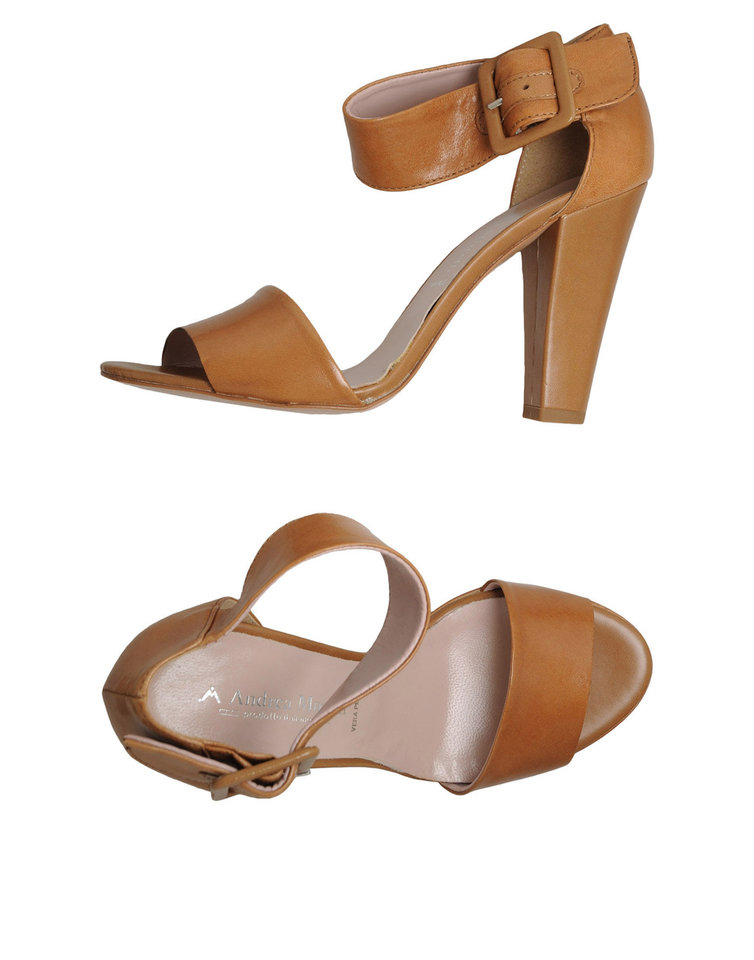 Photo - Get the Andrea Morelli ankle strap heels from Yoox.com for $85 for a pair of heels you can wear with a maxi, shorts or trousers. (Courtesy Yoox.com via Los Angeles Times/MCT)