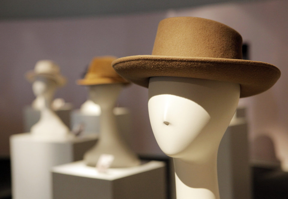 """The Biltmore: Tan Wool Felt/Tan Grosgrain Ribbon/Bow"" in the exhibit ""Mother's Hats: The Doris Elliott Collection"" at City Arts Center in Oklahoma City, Thursday, June 24, 2010. The exhibit features hats owned by the mother of Rand Elliott, representing the heyday of Downtown Oklahoma City. Photo by Nate Billings, The Oklahoman"
