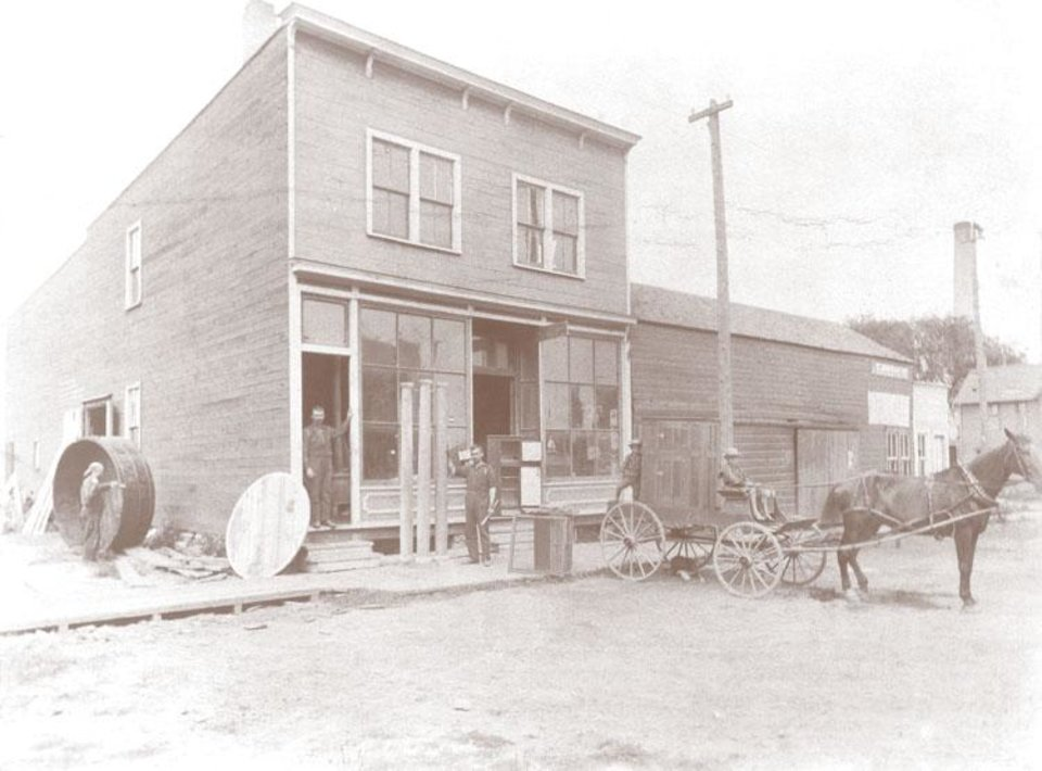 Photo -  Boldt Co. started in Appleton, Wis., in 1889 with this carpenter shop owned and operated by Martin Boldt. PROVIDED BY BOLDT CO.